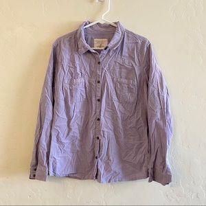 Sonoma Lilac Purple Corduroy Button Down Shirt